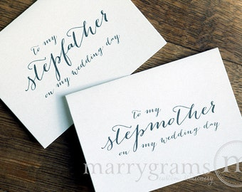 Wedding Card to Your Stepmother & Stepfather - Step-Parents of the Bride, Groom Cards - Step-Mother Step-Father Wedding Thank You Card CS09