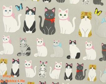 Paper Die Cut Deco Sticker - Cute Cats  - 1 Sheet