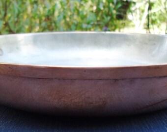 "8"" Round Copper Tagus Portugal  Au Gratin Pan"