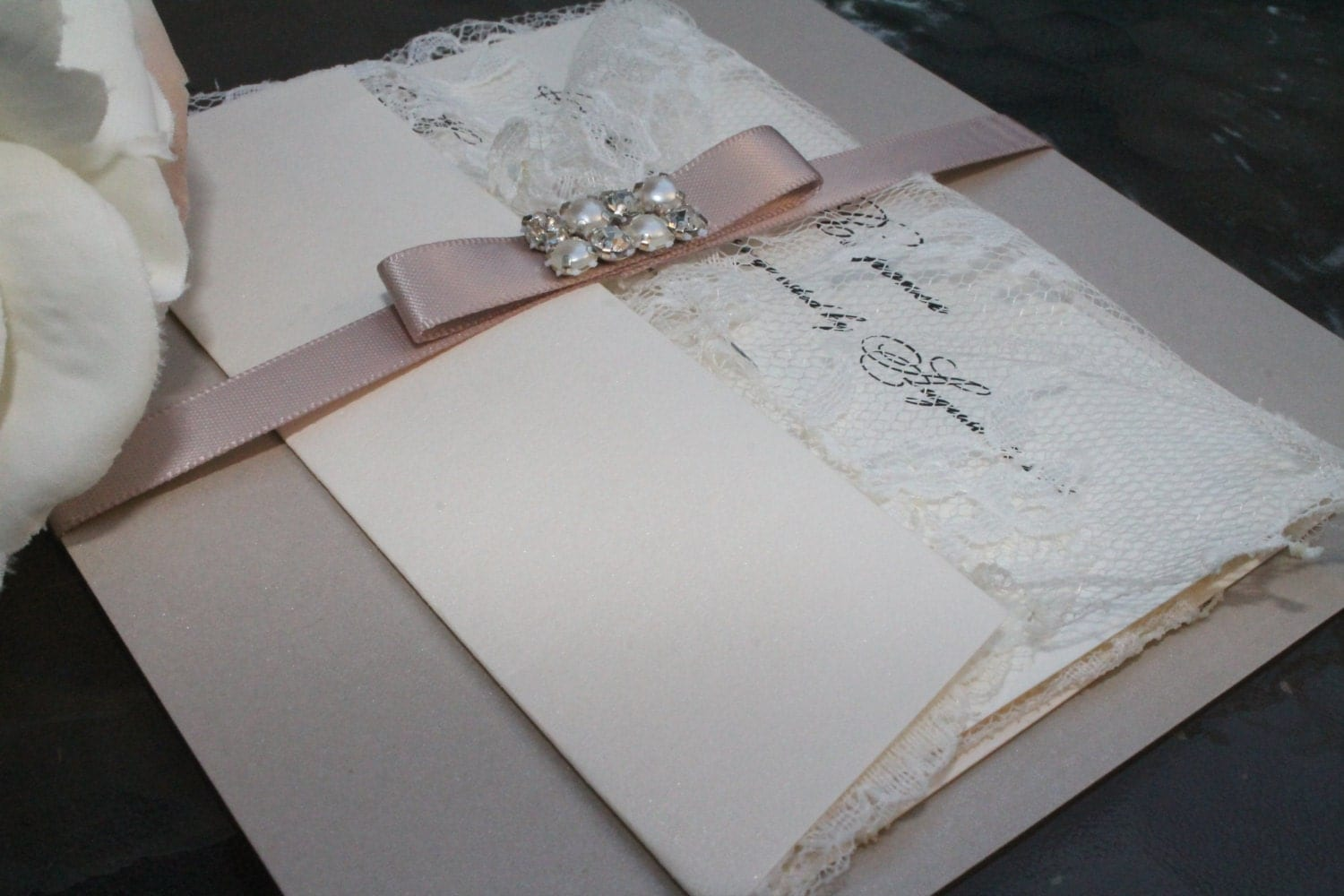Moroccan Wedding Invitations: The Moroccan Wedding Invitation Suite In Sand/Blush By