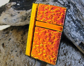 Extra Large Dichroic Fused Glass Money Clip, Accessories for Him or Her, Glass Art, Copper Glass Money Holder, Gifts Under 30 Dollars