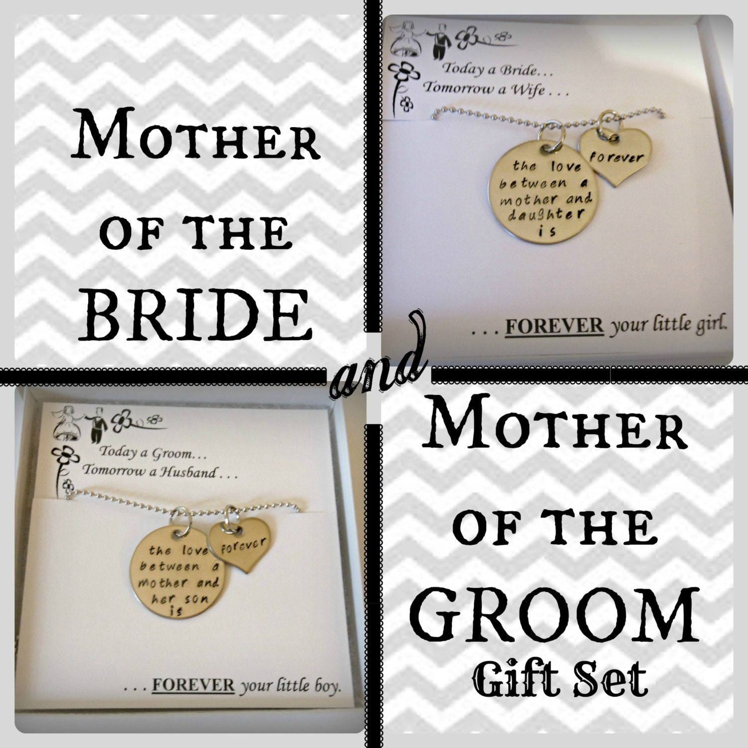 SALE: Mother Of The BRIDE And Mother Of The GROOM Gift Set Of