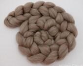 BFL& Baby Camel Spinning Fiber, Undyed, Natural Coloured Wool 100g