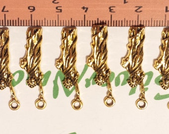 14 pcs per pack 30x6mm New York Statue of Liberty Charms Antique Gold Lead free Pewter.