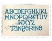 Tangerine Machine Embroidery Font Monogram Alphabet - 3 Sizes