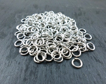 Aluminum Jump Rings 16 Gauge 1/4 inch 6.5mm ID for Chainmaille Jewelry