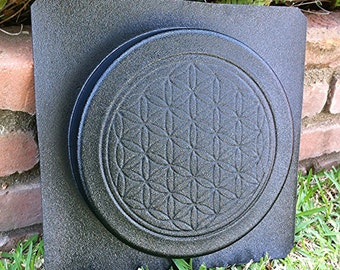 Sacred Geometry Flower of Life Concrete Cement Stepping Stone Paver Mold