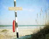 Beach Photography - Nautical Wall Art - Ocean Waves, Blue Sky, Navy, White, Orange - Beach Home Decor