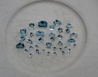 Aquamarine gem mix loose parcel over 10 carats