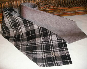Vintage Grey & Black Men's Neck Ties