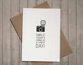 Smile, Today's gonna be a great day CARD and ENVELOPE - SALE