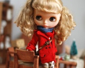 Miss yo Winter Coat Jacket for Blythe doll - doll outfit - Red