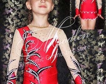 Rhythmic Gymnastics Leotard #92 for Competition | Order as Ice Figure Skating Dress, Acrobatic Gymnastics Costume or Baton Twirling Leotard