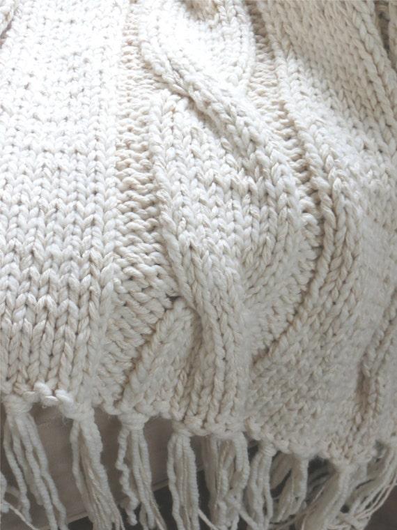 Georgia Afghan Knitting Pattern : Knit Blanket Pattern, Chunky Blanket Pattern, Chunky Knit ...