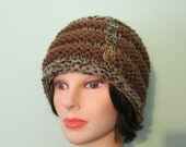 Chunky Knit Brown Beehive Hat