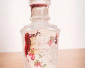 Vintage Milan Italy Glass Perfume Bottle - #3 - Apothecary Bottle - Perfume Bottle - Vintage Perfume