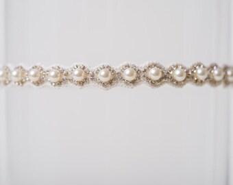 TOSS GARTER ivory pearl Wedding Garter Pearl Bridal Garter Throw Garter