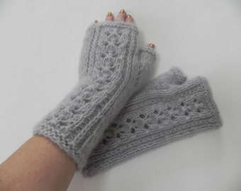 Wool, Acrylic,Arm warmers,Hand knitted, fingerless gloves, arm cuffs
