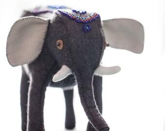 Felt beaded circus elephant