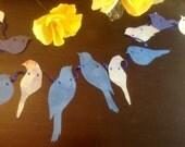 Blue Birdie Garland 5+ Feet