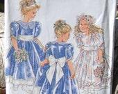 New Look Pattern Princess Dress Little Girls 6687 UNCUT sizes 3-8 wedding