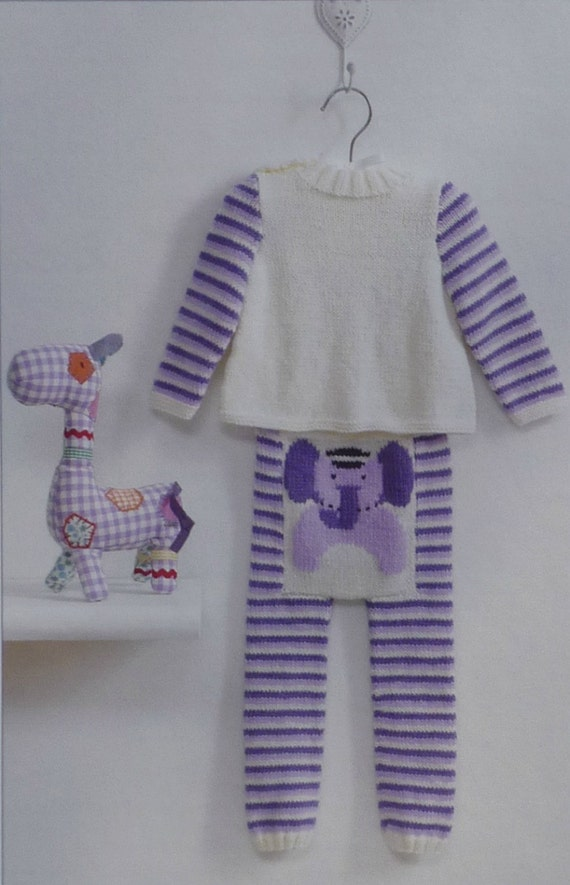 Knitting Jumpers For Elephants Fake : Baby knitting pattern k babies elephant jumper and