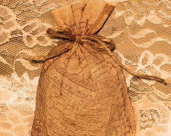 Lavender Sachet - French Lavender Hand Dyed and Hand Distressed with Twine PARIS MARKET (SachHD002)