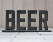 "Metal ""Beer"" Sign"
