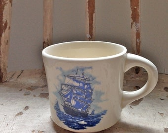 Dad MUG vintage coffee drinkers gift ship nautical theme
