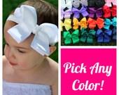 Baby Headband Set - 5 Bow Headbands - Baby Bow Headband Set