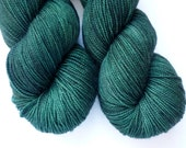 Hand Dyed Yarn - Merino / Cashmere / Nylon Sock Weight - Ausable Sock in Emerald Isle Colorway