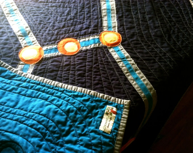 Organic ORION Constellation Quilt, Made to Order