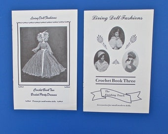 Crochet Doll Clothes Patterns, 2 Booklets