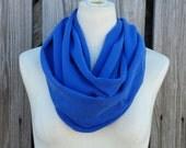 SALE - Neon Blue Infinity Scarf - The Grande All Season Violet Blue Eternity Scarf - Super Cozy