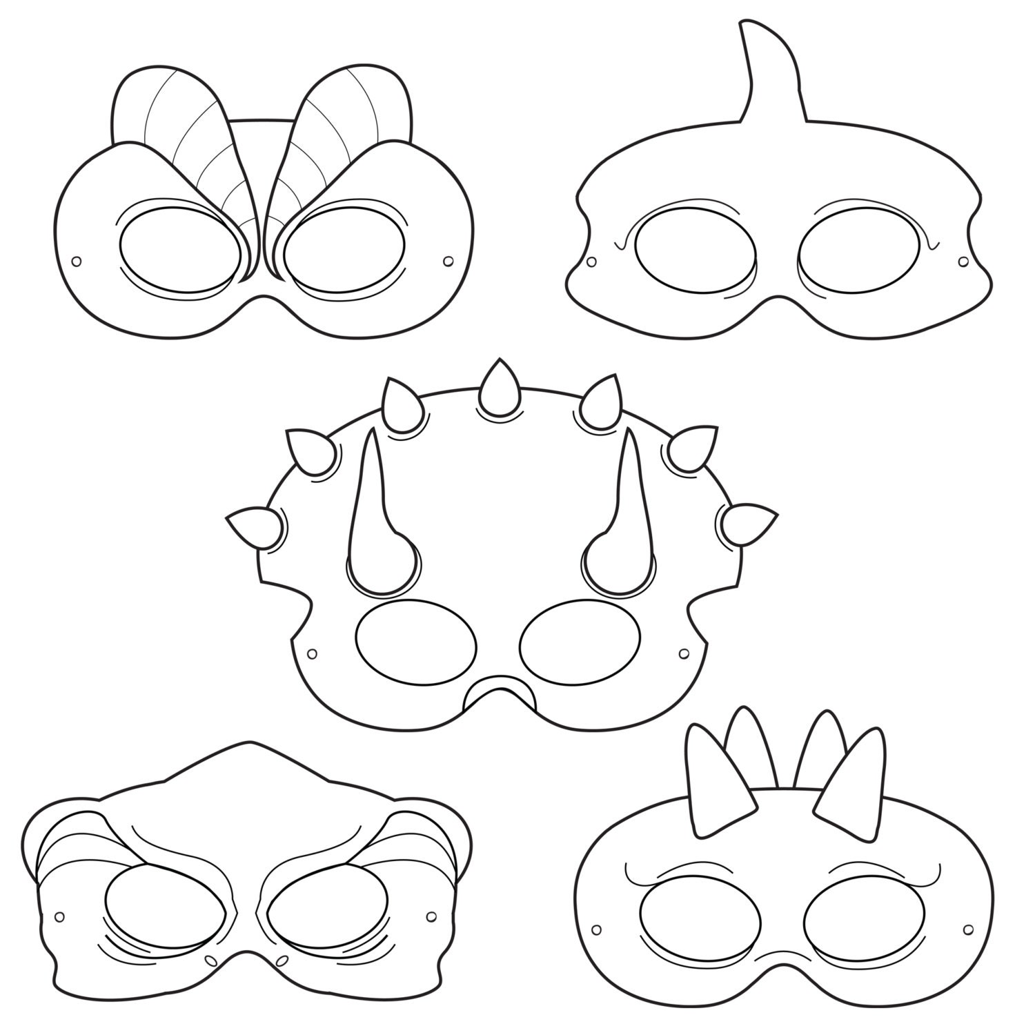Printable Halloween Masks Free Masks For Kids To Print on scary dinosaur invitations