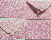 Flower Antique Pink Mini Envelope Set of 4  Business cards holder, Gift Card Envelope