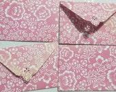 Flower Antique Pink Mini Envelope Set of 4  Business cards holder, Gift Card Envelope