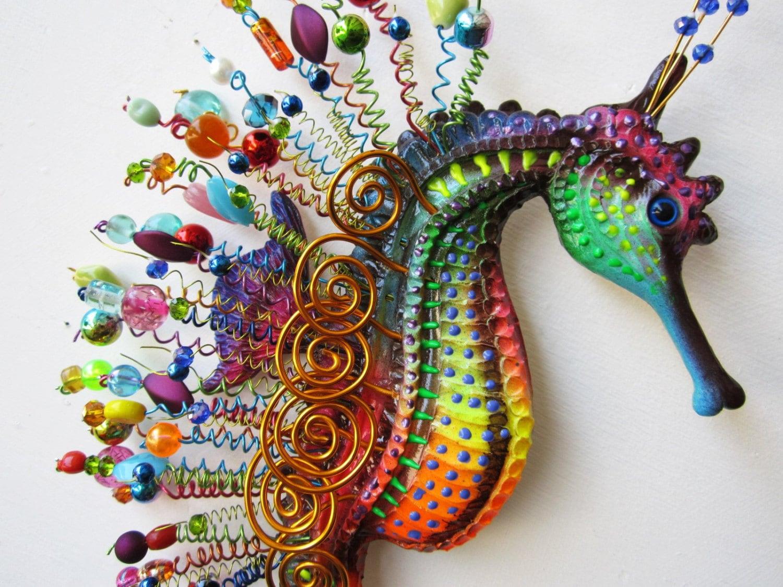 seahorse art wall sculpture. Black Bedroom Furniture Sets. Home Design Ideas