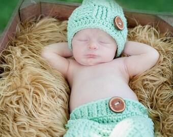 newborn photography prop, crochet newborn set, newborn hat, newborn pants, photo prop, photography prop, custom orders, crochet set