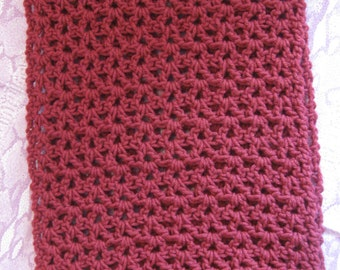 Crocheted Raspberry Shoulder Wrap