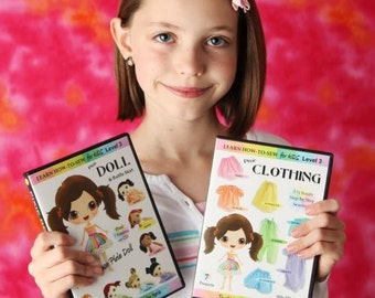 Learn How to Sew for Kids Pixie Doll & Clothing DVD Set (Advanced Sewing Project for ages 5 and up)
