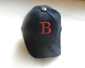 "Boston Red Sox Baseball Cap created for 18"" Dolls"