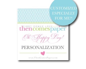 PERSONALIZATION - for Instant Download Accessories