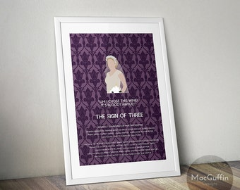 Sherlock Mary Morstan / Watson poster - Choose from 4 episodes (Made to order)