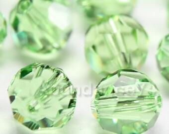 36 pieces Genuine Swarovski Elements - Swarovski Crystal Beads 5000 5mm Round Ball Beads - PERIDOT