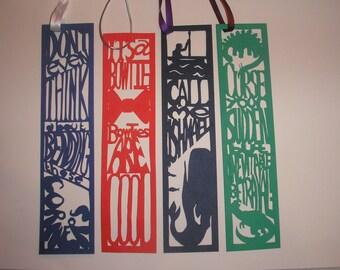 Papercut Custom/ Personalized Bookmark
