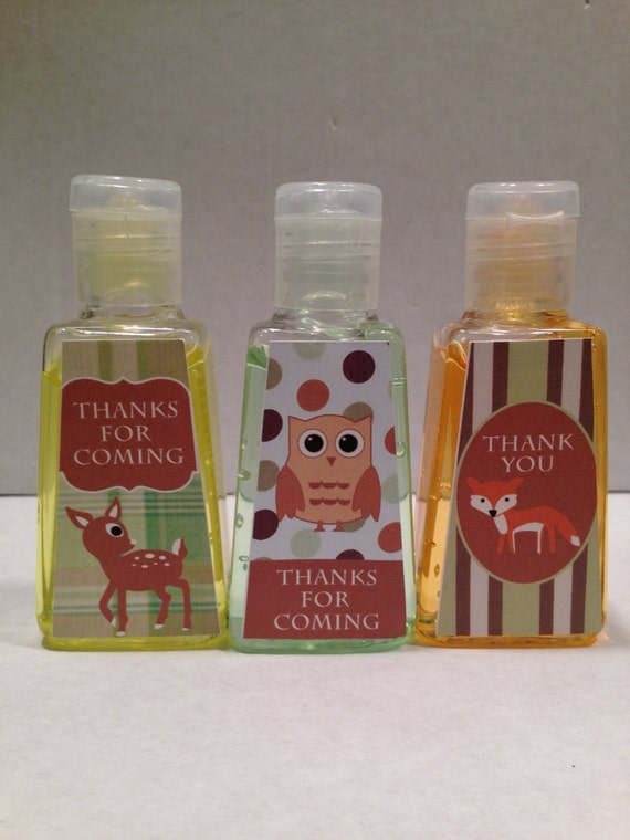 Items similar to customized hand sanitizer favors unique for Hand sanitizer bridal shower favors