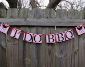 I Do BBQ, I Do BBQ Banner, Red Gingham Decoration, Engagement Banner, Wedding BBQ Decoration,I Do bbq Party Ideas, Couples Shower Decor,