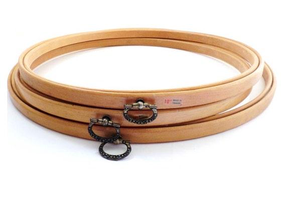 Vintage wooden embroidery hoops frames
