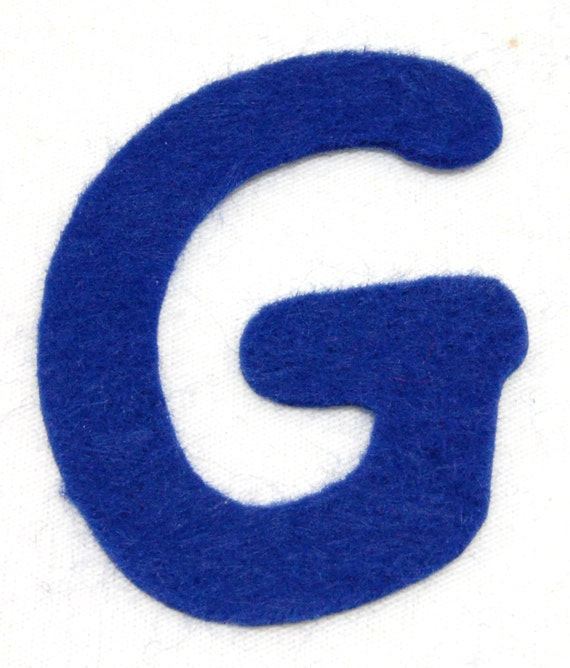g felt alphabetic letters 2 4 inch iron on choose from 28 With 6 inch felt letters